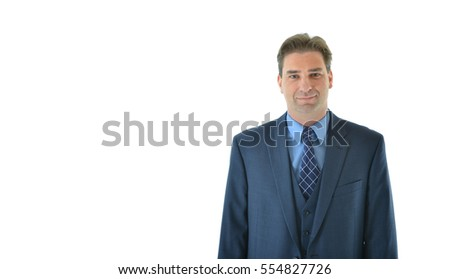 Business man standing with a smile