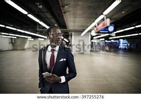 Business Man Traveling City Career Concept