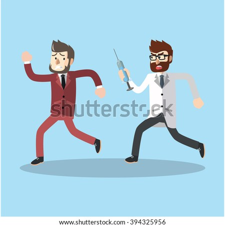 Business man vaccinated - stock photo