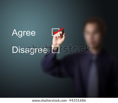 business man vote agree - stock photo