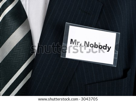 Business man with a low self esteem - stock photo