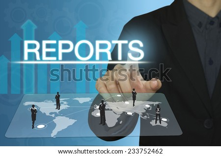 business man with reports concept. - stock photo