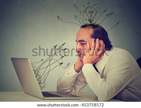 Business man working on computer in his office