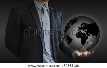 business man world - stock photo