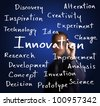 business man writing innovation concept - stock photo
