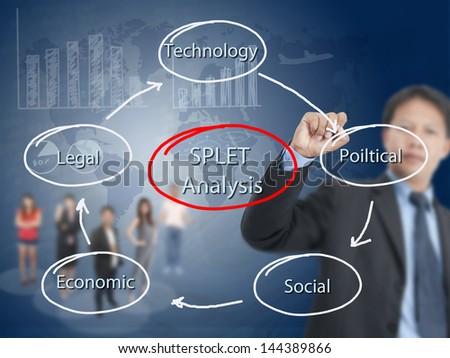business man writing training concept - stock photo