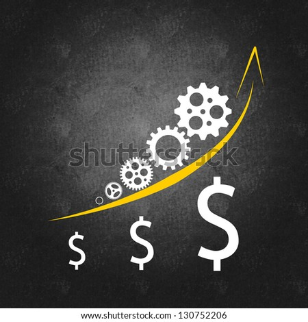 Business management and success concept - stock photo