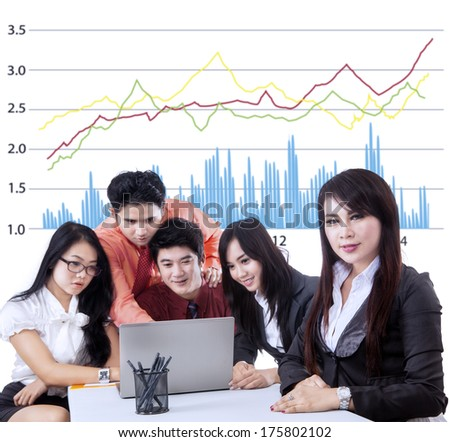 Business manager and team having a meeting at office - stock photo