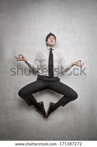 business meditation - stock photo