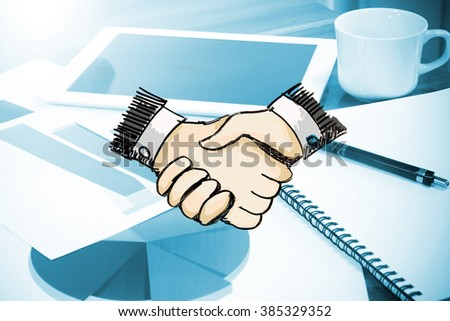 Business Meeting,Financial Deal, Handshake ,business investment