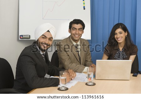 Business meeting in an office