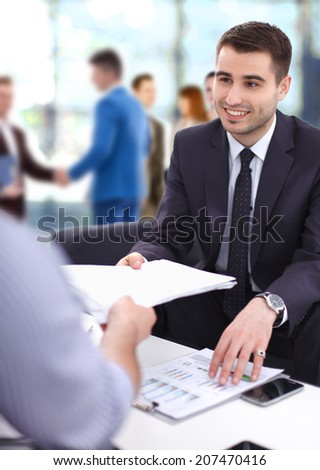 Business - meeting in an office - stock photo