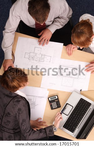 business meeting -  offer presentation - stock photo