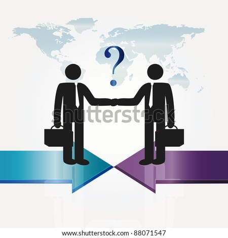 Business meeting two important persons - abstract concept - stock photo