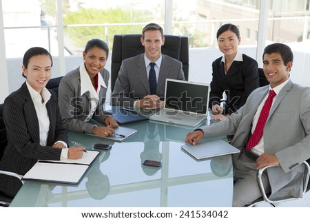 Business meeting with multi-ethnic people - stock photo