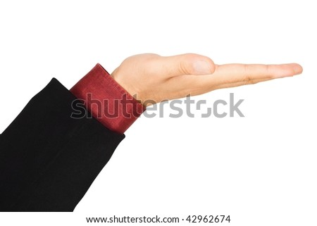 Business men holding hand, isolated on white background