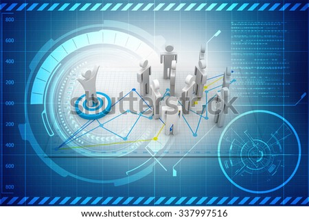 business network concept - stock photo
