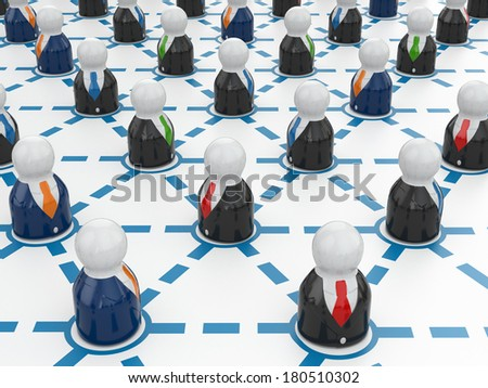 Business network concept. Communication. Three-dimensional image. - stock photo
