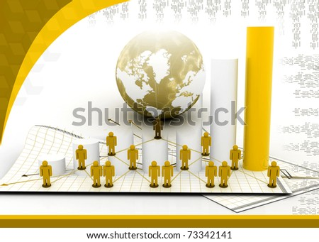Business Network in abstract design - stock photo