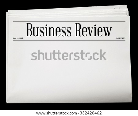 Business Newspaper Blank Content Isolated with Clipping Path. - stock photo