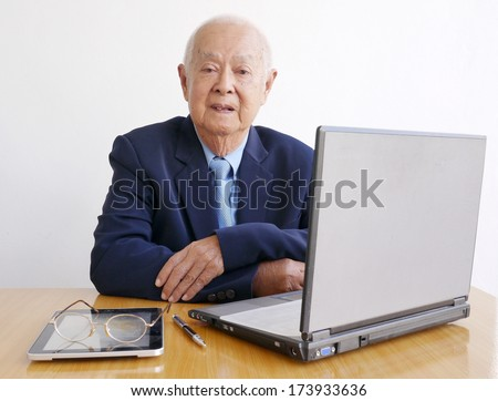 Business Old Man - stock photo