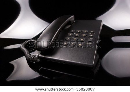 Business opportunities - beautiful light on corded phone