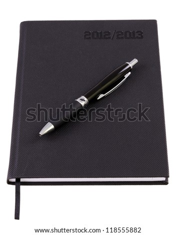 Business organizer for 2013 with pen - stock photo