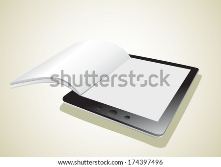 Business paper on tablet. Mobile device concepts. - stock photo