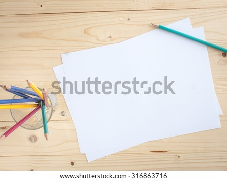 business paper on wood