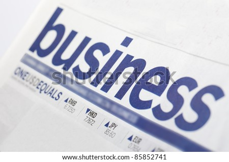business paper with a close view