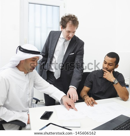 Business partners working in the office.  - stock photo
