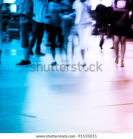 business people abstract background blur motion
