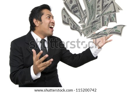 Business people are very happy - stock photo