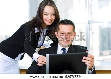 Business people are working on laptop