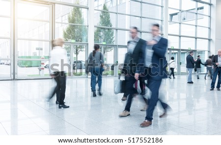 business people at a Exhibition