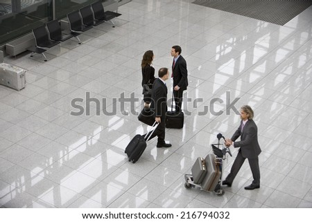 Business people at the airport. - stock photo