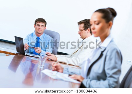 business people at the table, business meeting