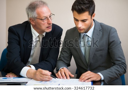 Business people at work during a meeting