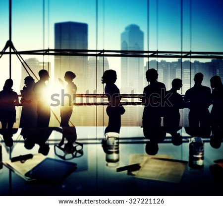 Business People Brainstorming Office Discussion Concept