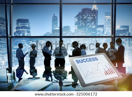 Business People Brainstorming Teamwork Success Concept - stock photo