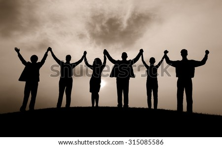Business People Celebration Success Happiness Concept - stock photo