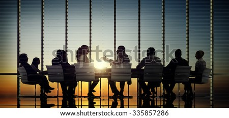 Business People Communication Office Meeting Room Concept