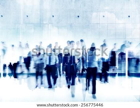 Business People Commuter Cityscape Busy Teamwork Partnership Company - stock photo