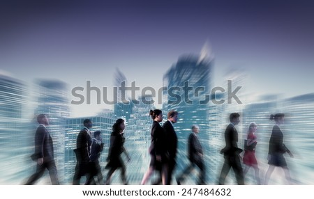 Business People Commuter Cityscape Team Concept - stock photo
