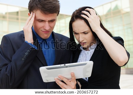 Business people conflict working problem - stock photo