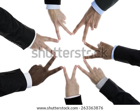 Business people connected concept - stock photo