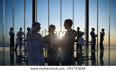 Business People Corporate Handshake Agreement Meeting Office Concept