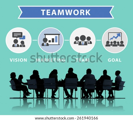 Business People Corporate Meeting Connection Teamwork Concept - stock photo
