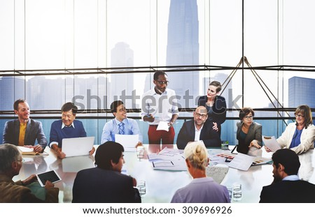 Business People Corporate Meeting Presentation Communication Concept