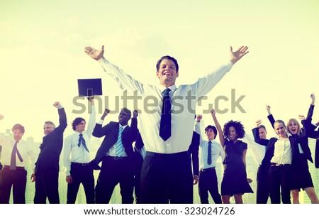 Business People Corporate Success Concept - stock photo